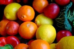 Sinaasappelen en citroenen Royalty-vrije Stock Fotografie