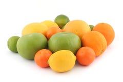Sinaasappelen, kalk, grapefruits Stock Afbeelding