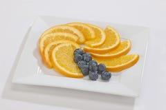 Sinaasappelenplakken Stock Foto