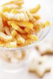 Sinaasappelschil gezoet suikergoed Stock Afbeeldingen