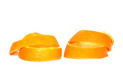 Sinaasappelschil, witte achtergrond Royalty-vrije Stock Fotografie