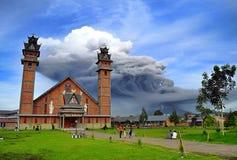 Sinabung The Volcano royalty free stock photos