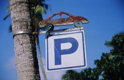 Sinage di parcheggio fotografia stock