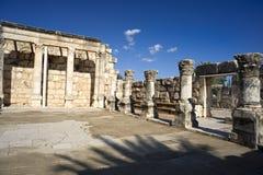 Sinagoga Capernaum foto de stock royalty free