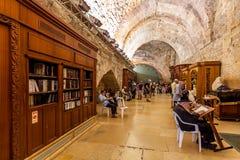 Sinagoga da caverna no Jerusalém, Israel. Imagem de Stock