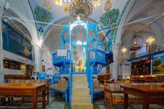 A sinagoga de Abuhav, no quarto judaico, Safed ( Tzfat) Fotografia de Stock