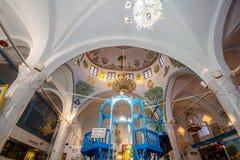 A sinagoga de Abuhav, no quarto judaico, Safed ( Tzfat) Fotos de Stock