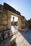 A sinagoga de Capernaum Fotos de Stock