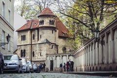 Sinagoga de Klausen no quarto judaico em Praga, República Checa foto de stock royalty free