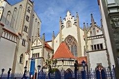 Sinagoga de Maisel no quarto judaico em Praga foto de stock