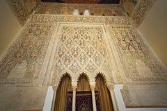 Sinagoga del Transito犹太教堂内部,托莱多,西班牙 这是犹太人文化的例子在Spai 库存图片