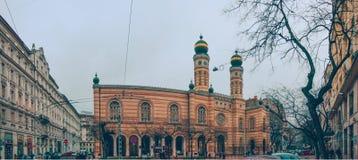 Sinagoga della via di Dohany Immagini Stock