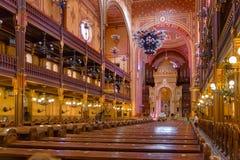 Sinagoga della via di Dohany Fotografia Stock