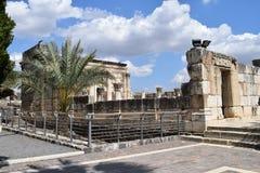 Sinagoga di Capernaum Immagini Stock