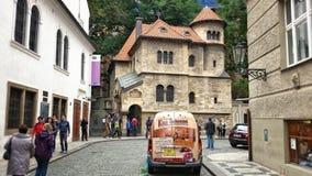 Sinagoga di Chiusa nel quarto ebreo di Praga Fotografia Stock