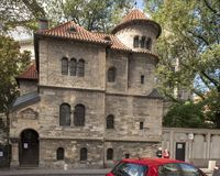 Sinagoga di Chiusa, Praga, repubblica Ceca immagine stock libera da diritti