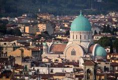 Sinagoga ebrea a Firenze Fotografie Stock
