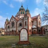 Sinagoga em Subotica, Serbia fotos de stock