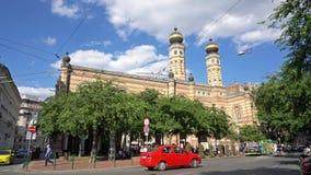 Sinagoga en Budapest almacen de video