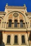 Sinagoga española, edificios viejos, calle de Siroka, Praga, República Checa Imágenes de archivo libres de regalías