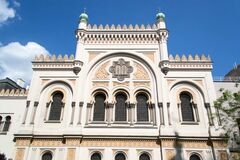 Sinagoga española en Praga Foto de archivo libre de regalías