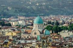 Sinagoga judía de Florencia Foto de archivo