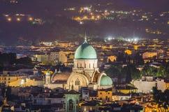 Sinagoga judaica de Florença fotos de stock royalty free