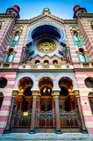Sinagoga judaica em Praga, república checa Fotografia de Stock Royalty Free