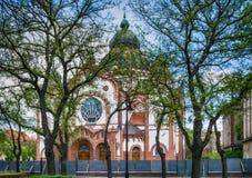 Sinagoga judaica na cidade de Subotica, Sérvia imagens de stock