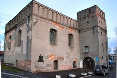 Sinagoga in Lutsk, Ucraina immagini stock libere da diritti