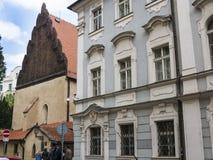 Sinagoga no Josefov ou ?rea judaica em Praga em Rep?blica Checa fotografia de stock