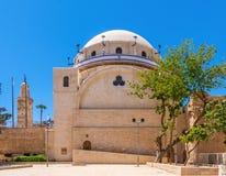 Sinagoga restaurada em Jerusalem fotografia de stock royalty free