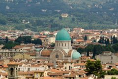 Sinagogue, la vista de Florencia, Italia. Imágenes de archivo libres de regalías