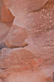Sinagua Sztuka Antyczna Rockowa Obraz Stock