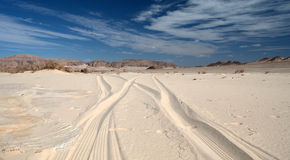 Sinai öken royaltyfria foton