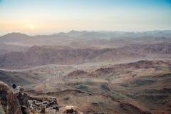 Sinai berg på gryning Fotografering för Bildbyråer