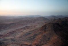 Sinai-Berge an der Dämmerung Lizenzfreies Stockfoto