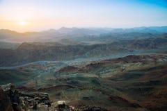 Sinai-Berge an der Dämmerung Stockfoto