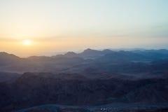 Sinai-Berge an der Dämmerung Stockbild