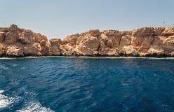 Sinai bergen en schilderachtige landschappen van het rode overzees in Egypte Rondvaart op het rode overzees royalty-vrije stock foto's