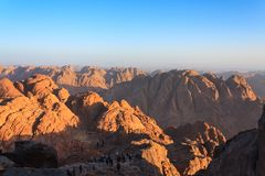 Sinai Desert in Egypt Stock Images