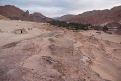 Sinai desert with sand and sun under blue sky in december.  royalty free stock images