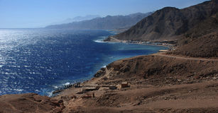 Sinai, Egypt coast landscape near Dahab Royalty Free Stock Images