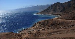 Sinai, Egypt coast landscape near Dahab royalty free stock images