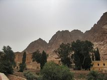 Sinai Monastery. Sinai St. Catherines Monastery in Egypt, the holy site for Christians, belief and religion a cathedral church the temple Royalty Free Stock Photos