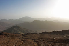 Sinai mountains Royalty Free Stock Photos