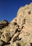 Sinai Mountains. Egypt. Sinai Peninsula. Trail to/from Mount Sinai summit stock image