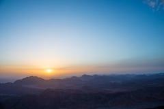 Sinai Mountains at dawn Royalty Free Stock Photos