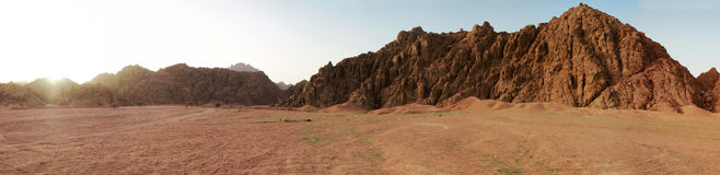 Sinai mountains panoramic. Panoramic view of Sinai mountains - Egypt Stock Image