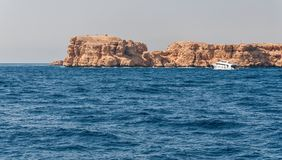 Sinai mountains and picturesque landscapes of the red sea in Egypt. Boat trip on the red sea royalty free stock image